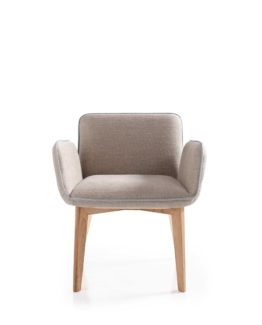 Butaca tempo, de la coleccion con el mismo nombre donde hay disponibles silla, sofá y butaca.